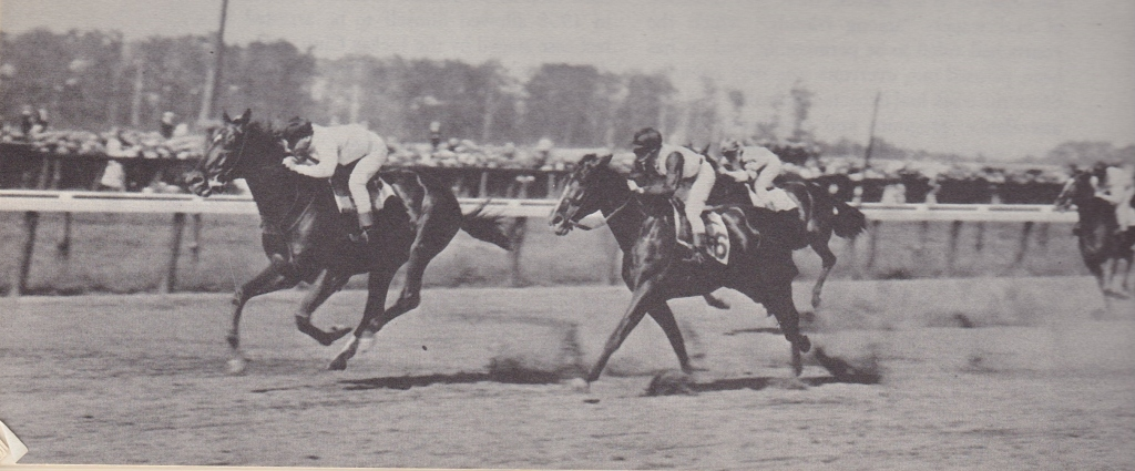 Whisk Broom & Joe Notter win the 1913 Suburban. Keeneland-Cook.