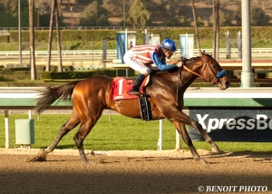Bayern and Gary Stevens. Benoit photo courtesy of Santa Anita.