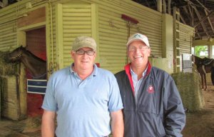 Jimmy Jerkens & Don Little Jr. Photo credit TRC