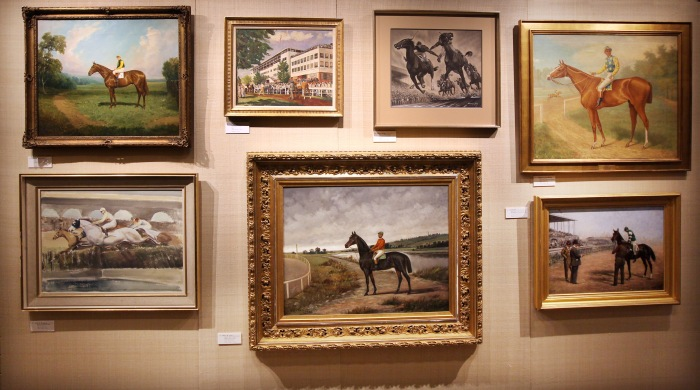 Keeneland Art Auction Display during the 2014 Keeneland Fall Meet
