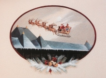 """""""Racing this Christmas Greeting to you!"""" by Karin Vollkommer."""