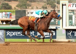 American Pharoah and Victor Espinoza .  Benoit photo