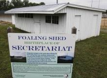 Secretariat foaling shed