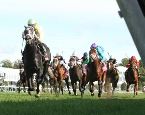 Airoforce and Julien Leparoux in the Dixiana Bourbon. Keeneland photo.