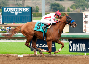 Collected and Martin Garcia in the Sham Stakes. Photo courtesy Santa Anita.