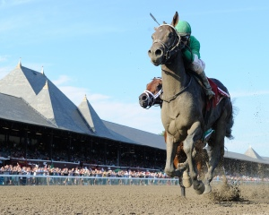Exaggerator and Junior Alvarado in the Saratoga Special