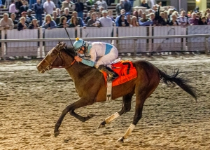 Mo Tom and Corey Lanerie win the Lecomte. Amanda Weir Hodges/Hodges Photography