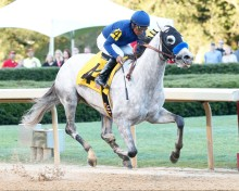 Cupid and Martin Garcia in the Rebel Stakes. Coady Photography