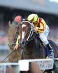 Rachel Alexandra and Calvin Borel in the Woodward. NYRA/Susie Raisher