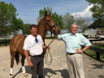 Boyd Martin (left) and John O'Meara with Blackfoot Mystery. Credit: United States Equestrian Federation